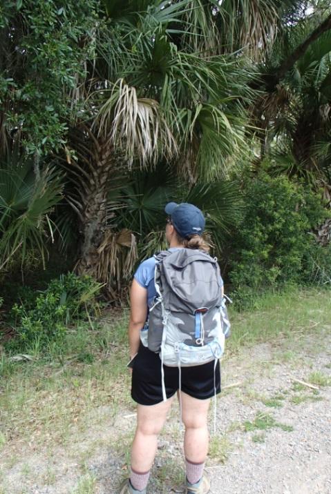 Osprey Tempest 40 Pack in use at Pinckney National Wildlife Refuge, South Carolina, USA.